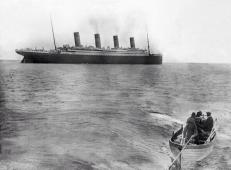 The last known photo of the Titanic, as the ship leaving Queenstown, Ireland on April 12th, 1912