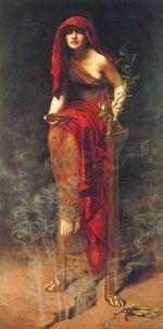 Delfi - la Pizia sul tripode
