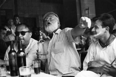 Ernest Hemingway in the bar Floridita in Havana