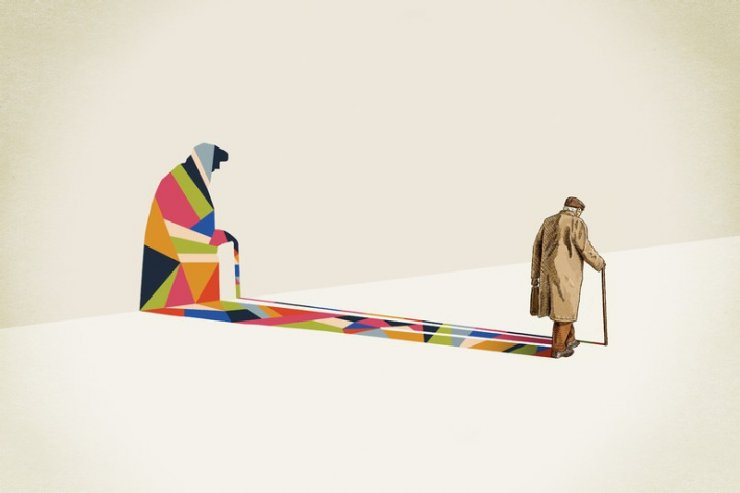 """Walking shadow"" dell'artista americano Jason Ratliff"