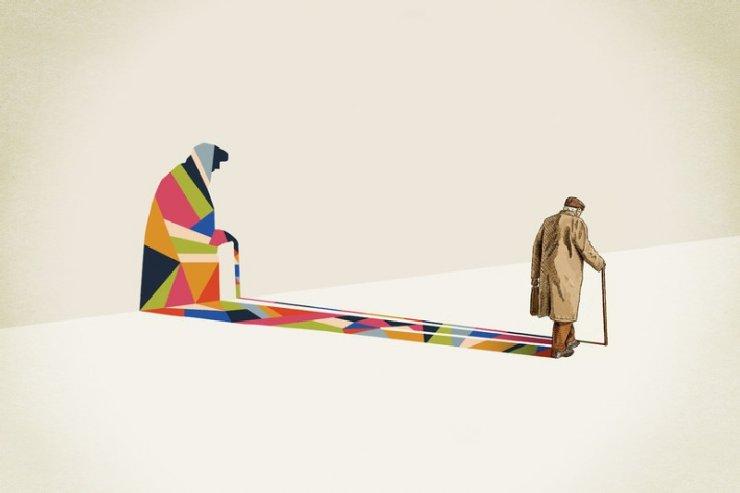 """""""Walking shadow"""" dell'artista americanoJason Ratliff"""