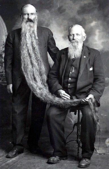 Zachary Taylor Wilcox e la sua barba lunga 14 piedi, 1920