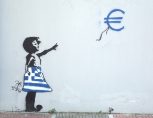 Banksy Euro girl by Absent