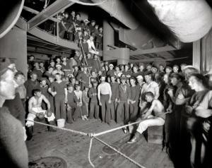 Incontro di boxe a bordo della USS Oregon, 1897