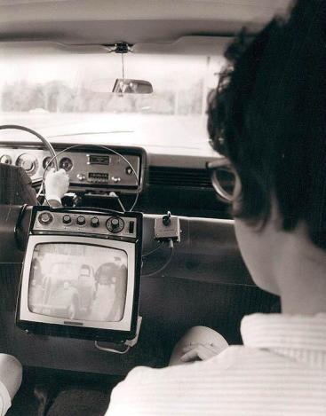 Televisione in macchina, 1965