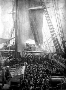 Nave mercantile per trasporto schiavi, metà del 1800