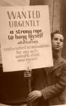 Fotografia di un uomo sconosciuto durante la Depressione, 1932