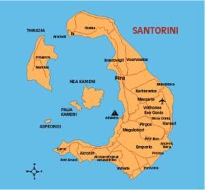 Santorini - Mappa