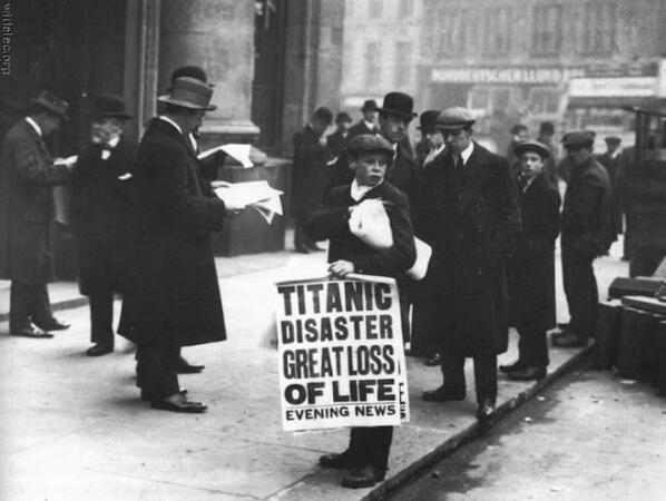 Il giorno dopo il disastro del Titanic. Londra, 16 aprile 1912