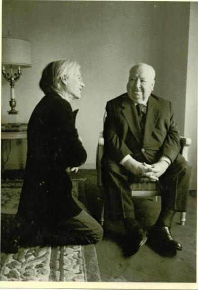Andy Warhol e Alfred Hitchcock, 1974