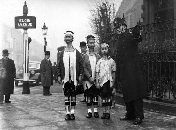 Donne birmane a Londra 1935