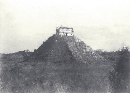 Chichen Itza, in Messico nel 1862 prima della pulizia e restauro