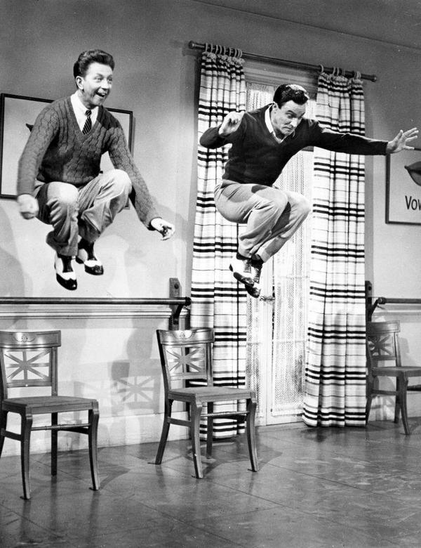 Donald O'Connor e Gene Kelly in Singin' in the Rain, 1952
