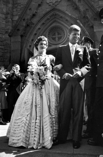 John F Kennedy e Jackie il giorno del loro matrimonio, 12 Settembre 1953