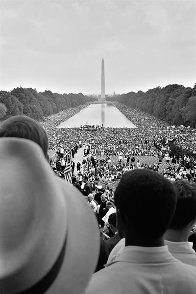 """Martin Luther King, Jr. di """"I Have a Dream"""" discorso al Lincoln Memorial, Washington, DC il 28 agosto 1963"""