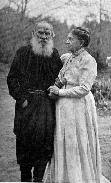 Tolstoj e sua moglie Sophia Tolstaya - 23 Settembre 1910