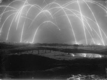 Trench Warfare. Foto scattata da un fotografo ufficiale britannico durante la prima guerra mondiale 1917