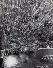 Vista verticale di Manhattan, New York, 1944 (foto di Andreas Feininger)