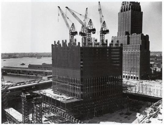 World Trade Centre in costruzione, 1969
