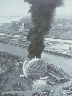 Il museo Biosphere di Montréal prende fuoco, 1976