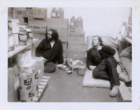 Kubrick e Nicholson sul set di The Shining