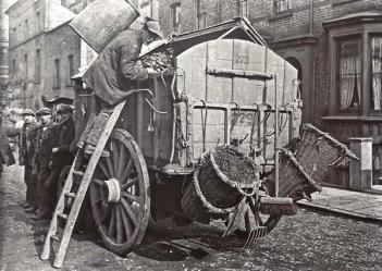 Macchina per pulire le strade, c. 1910, Londra