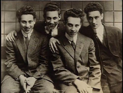 Harpo, Groucho, Chico, e Gummo Marx 1915