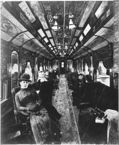 Dentro un treno, 19° secolo