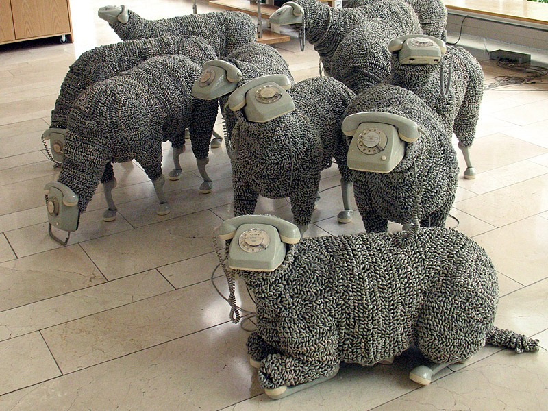 Telephone Sheep by Jean-Luc Cornec