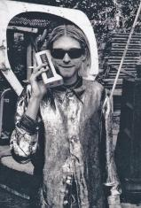 Kurt Cobain parla al cellulare