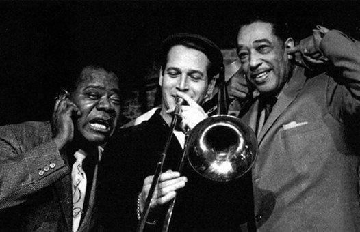 Louis Armstrong, Paul Newman e Duke Ellington nel 1961