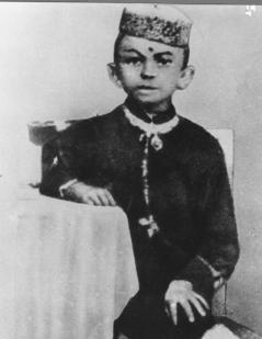 Mahatma Gandhi da bambino