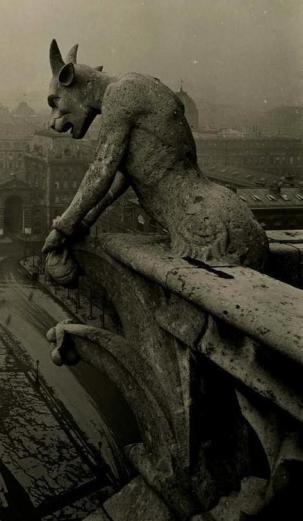 Pierre Yves-Petit (Yvon), 1920 - Gargoyle at Notre Dame