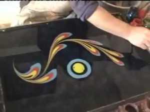 Pittura sull'acqua - Ebru