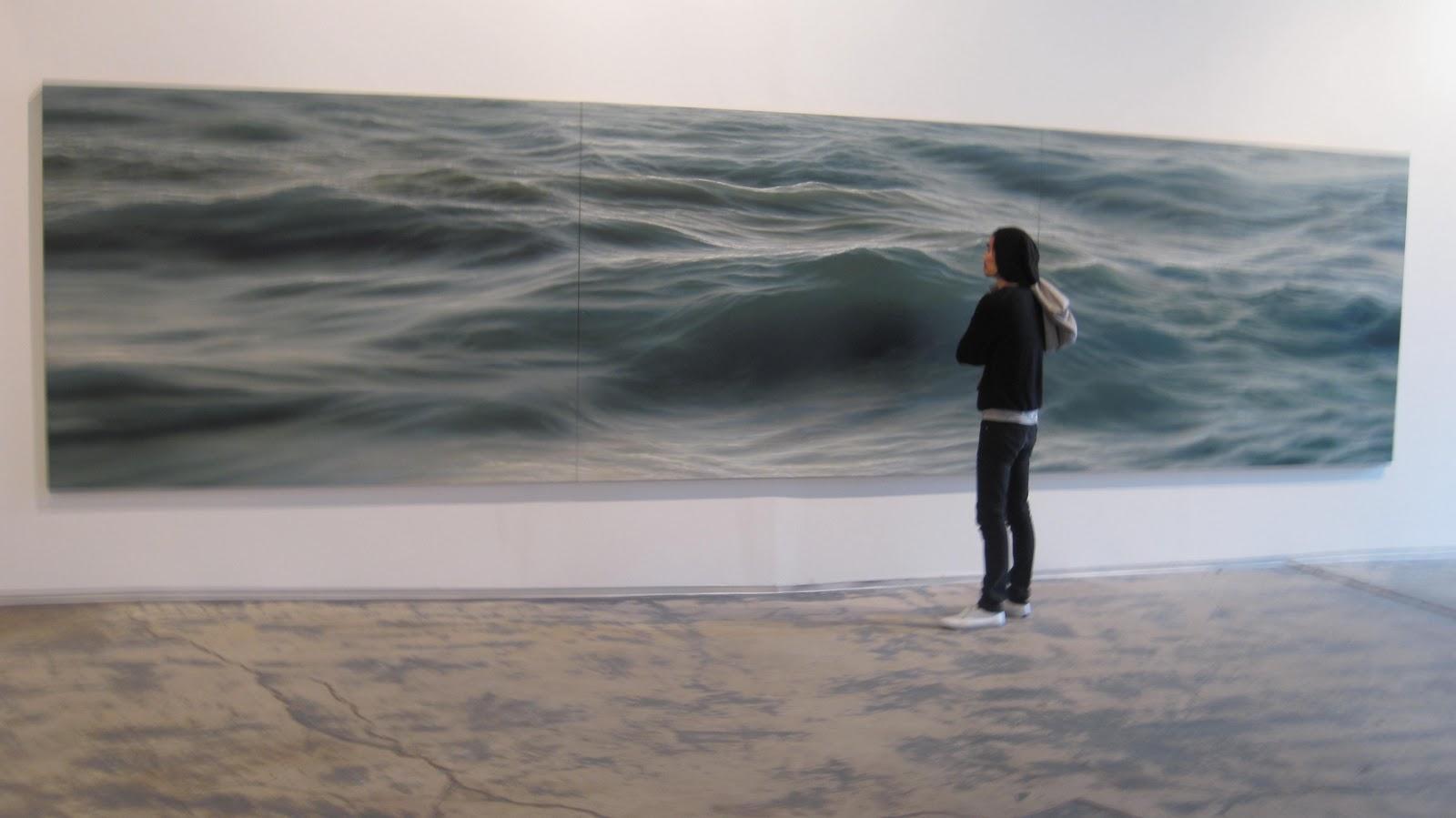 Eccezionale OperArt [work 99] – Dipinto (di mare) di Ran Ortner (Stati Uniti  RT83