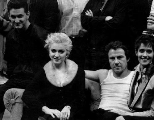 Sean Penn, Madonna, Harvey Keitel, e Lorraine Bracco, 1987