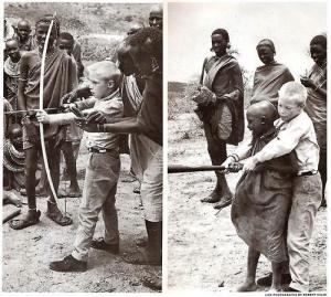 Scambio fra bambini kenioti e occidentali