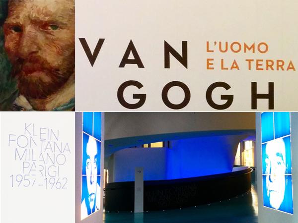 Milano - Mostre Van Gogh e Klein Fontana