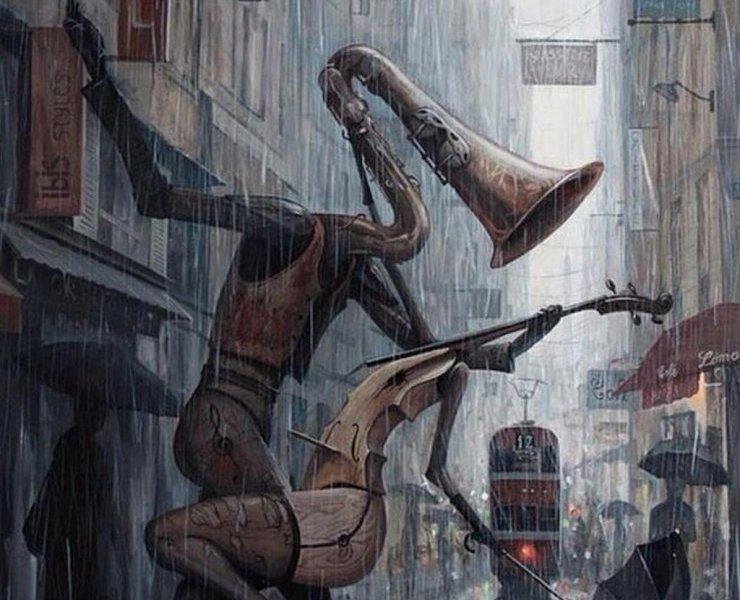 """""""Life is a dance in the rain""""dell'artista rumeno Adrian Borda"""