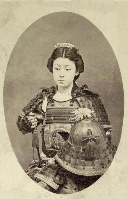Un quadro incredibile di un Samurai Donna nel 1800
