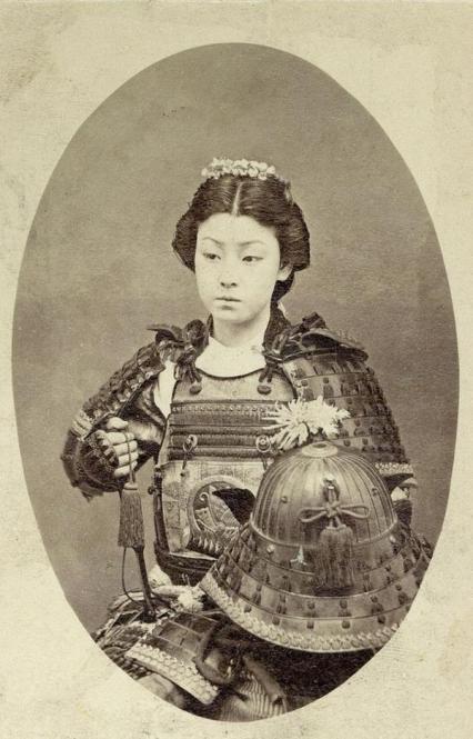 Un quadro incredibile di un Samurai Donna nel 1800