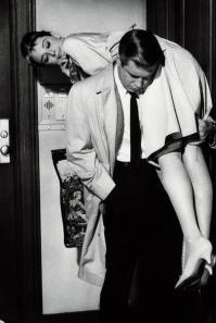 Audrey Hepburn e George Peppard in Colazione da Tiffany, 1961