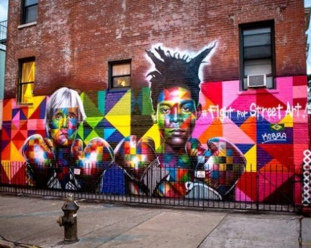 Tributo a Andy Warhol e Jean-Michel Basquiatdello street artist brasilianoEduardo Kobra