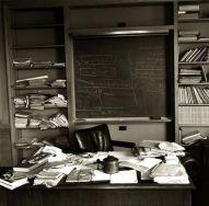 Ufficio di Einstein in New Jersey, fotografato il giorno della sua morte, 18 Aprile 1955