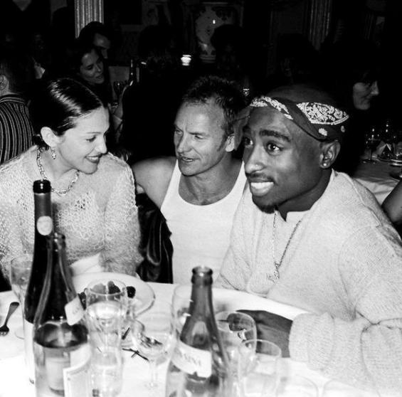 Madonna, Sting e Tupac Shakur nel 1994