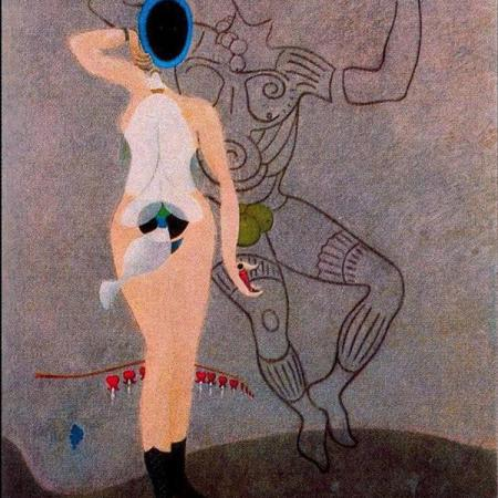 """The Return of the Beautiful Gardener (Homage to women)"" dell'artista francese Max Ernst"