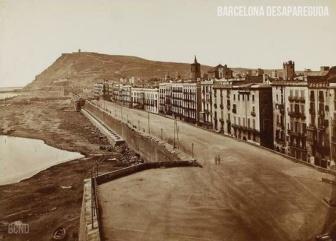 Muralla del Mar. 1874. Fotografia di Juan Martí.