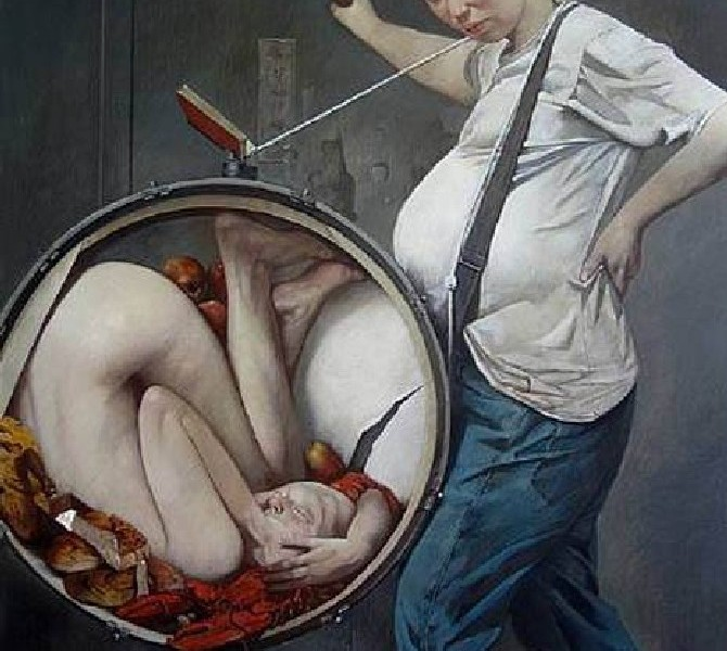 Dipintodell'artista mongoloWei Dong