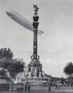 Lo Zeppelin sopra Barcelona nel 1933