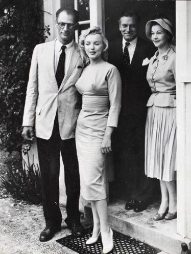 A. Miller e Marilyn con Laurence Olivier e Vivien Leigh